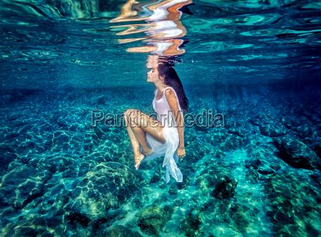 beautiful dance underwater