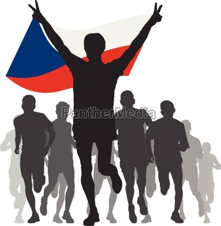 winner with the czech republic flag