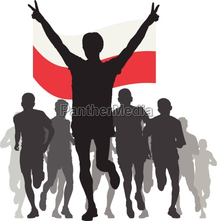winner, with, the, poland, flag, at - 13224474