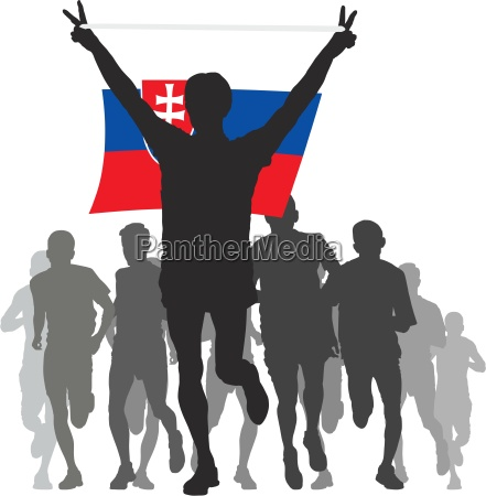 winner, with, the, slovakia, flag, at - 13224492