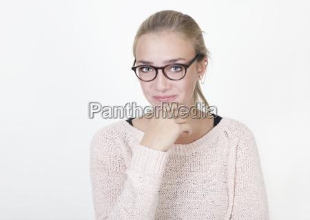 maedchen with brille portrait