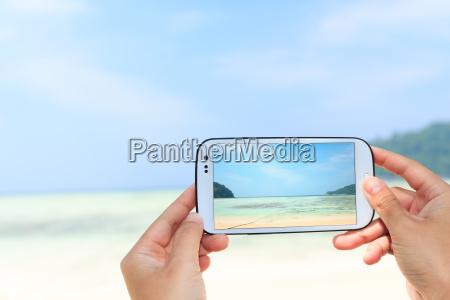 close up hand use smart phone