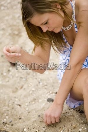 woman blue hand summer summerly hairs