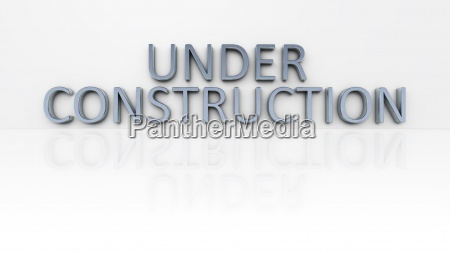 chrome word under construction