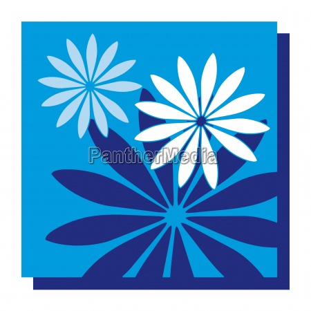blue art flower flowers plant abstract
