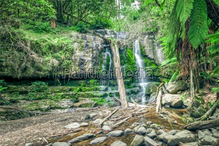 a waterfall on the island of