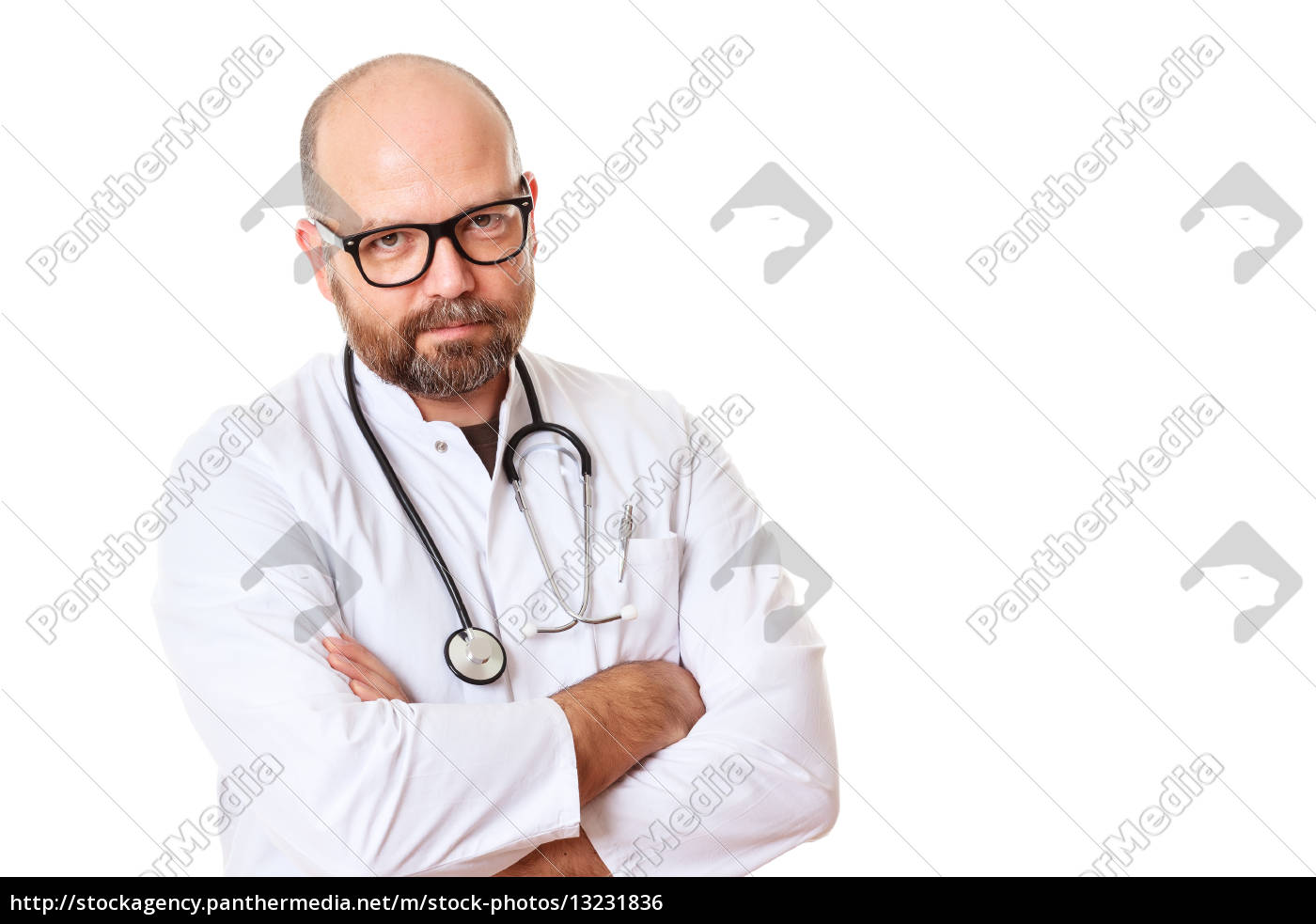 doctor, with, glasses, and, stethoscope - 13231836