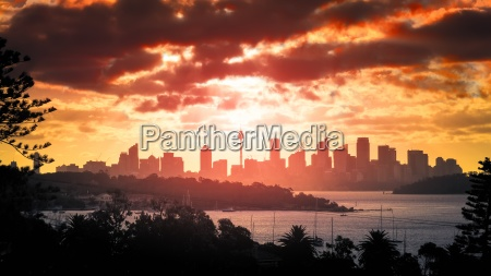 sunset, over, sydney - 13231944