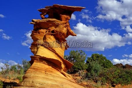 blue monument stone desert wasteland national