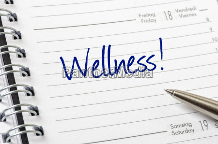 appointment calendar with the entry wellness