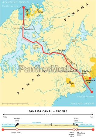 Panama Canal Political Map Royalty Free Photo 13251560