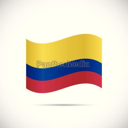 colombia flag illustration