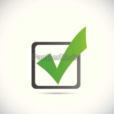 green check mark illustration
