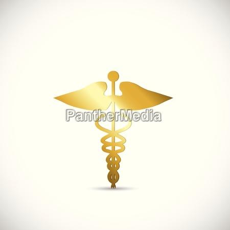 gold medical symbol