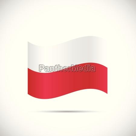 poland flag illustration