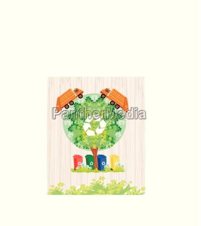 ecology card design segregation of garbage