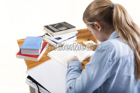 woman study plait write wrote writing