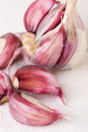 garlic bulb with toes fresh in