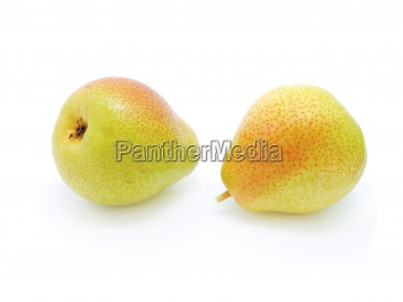 two pears isolated on the white