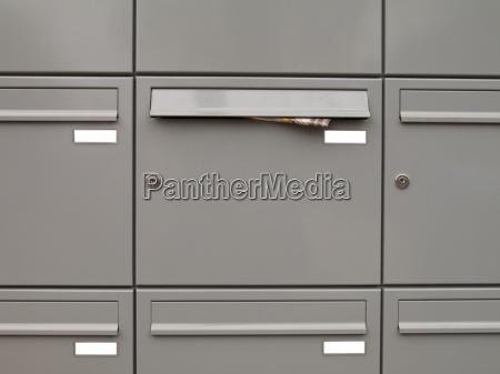 metallic mailboxes