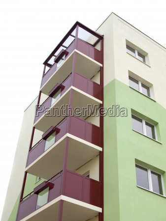 apartments building with balcony