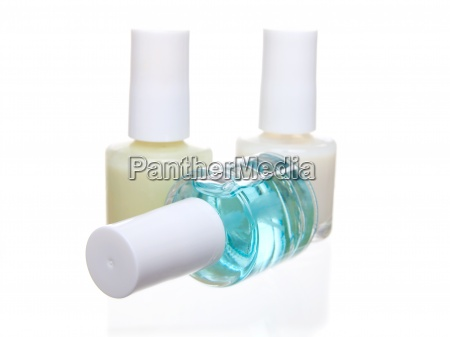 nail polish isolated on a white