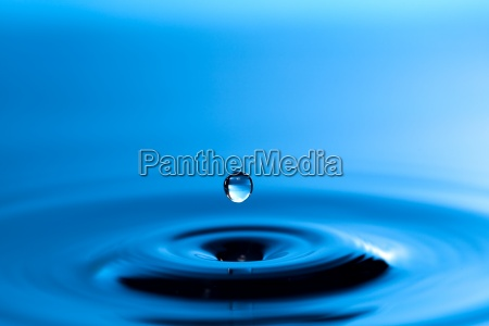 water drips onto the surface of
