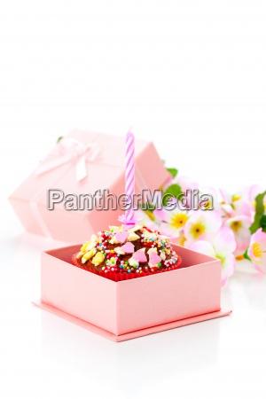 birthday valentine cake with one