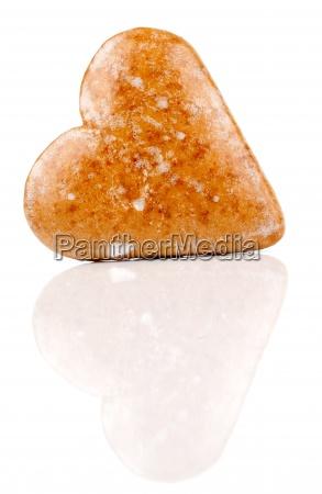 cookies in heart shape gingerbread