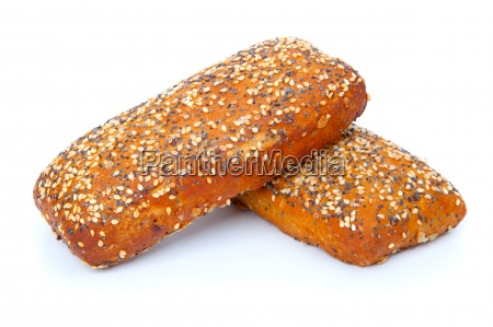 tasty rolls isolated on a white
