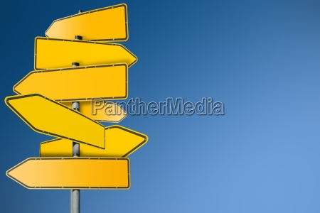 road signs blank