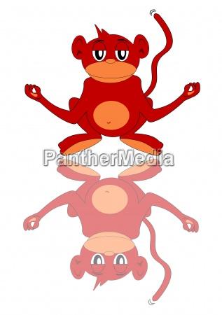 meditation meditating monkey comic body spirit