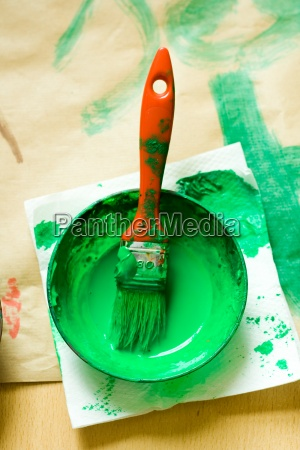 art green paint draw dyer staint