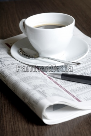 newspaper journal glass chalice tumbler cup