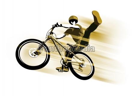cyclist at jump