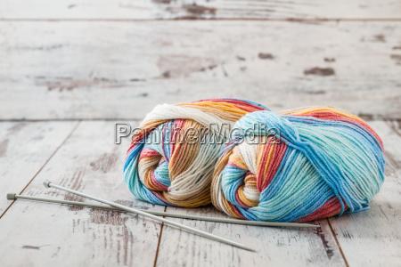 colorful woolen yarn