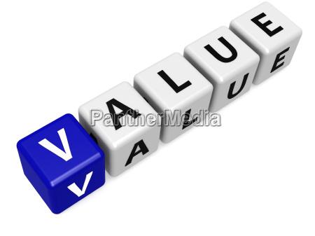 blue value