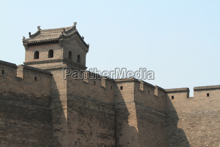 the city wall of pingyao in