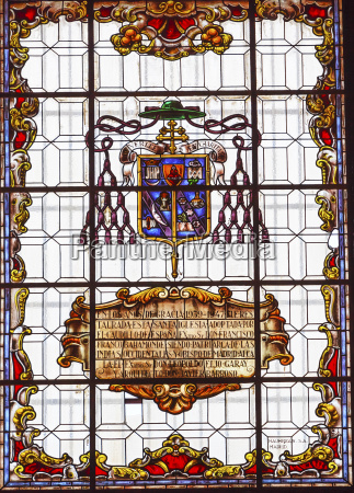 stained glass coat of arms basilica