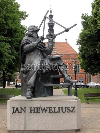 monument to hevelius in gdansk gdansk