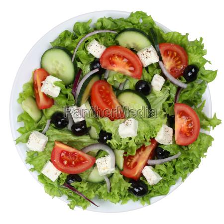 greek salad with tomatoes feta cheese