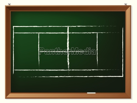 tennis field on chalkboard