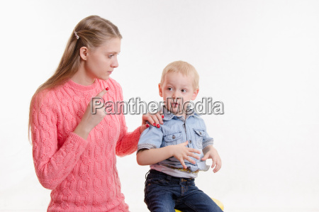 mom unhappy childs behavior