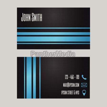 business card template creative modern
