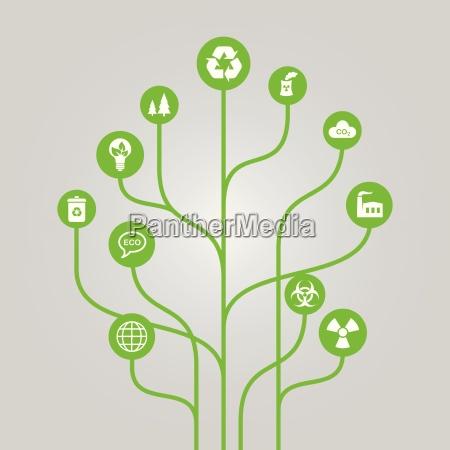 abstract icon tree illustration environment