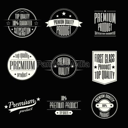 set of vintage style labels