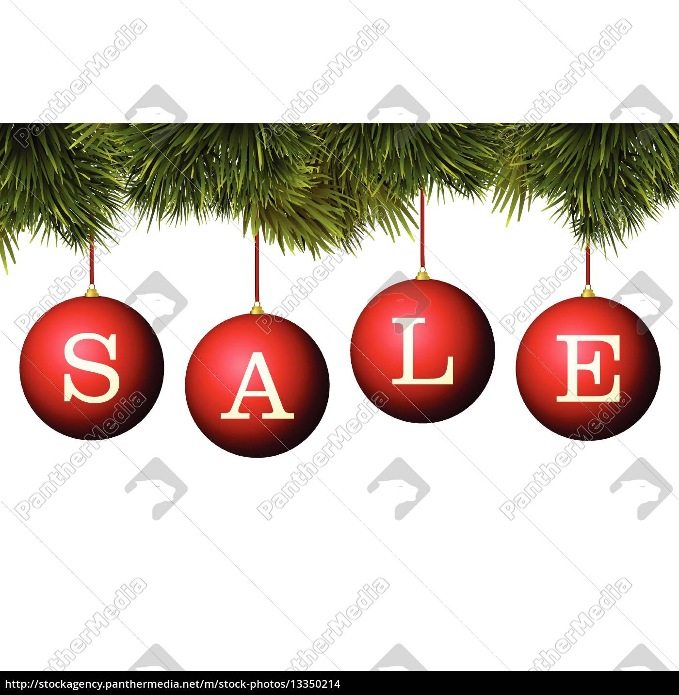 45f3308b0b Christmas sale banner advertisement - red baubles with - Stock image ...