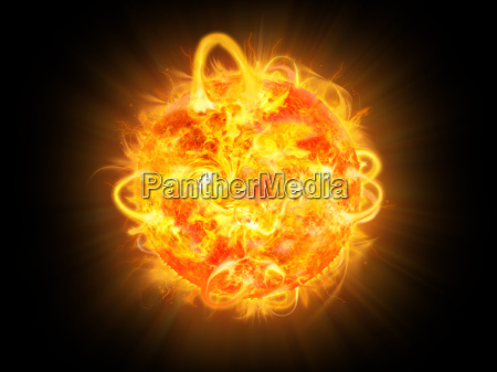 solar explosion illustration and space fantasy