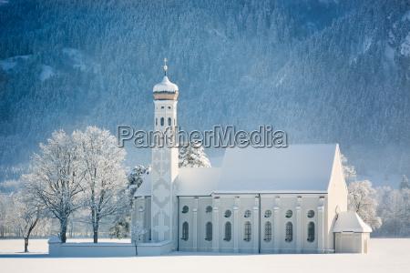 st coloman at wintertime allgau germany