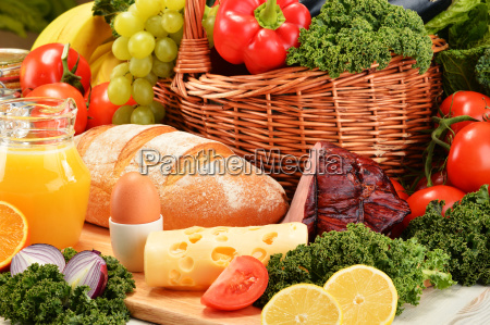 composition, with, assorted, organic, grocery, products - 13374522
